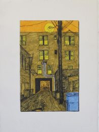 Alley with Apartment Bridge