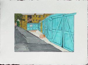 Alley with Barn Doors