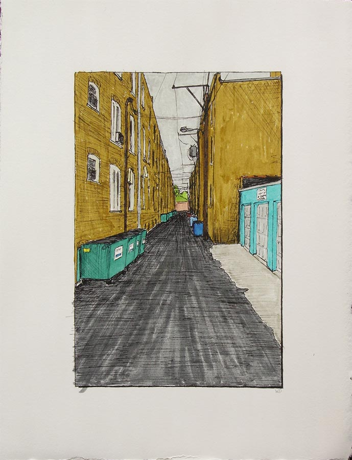 Alley with Rogers Park Apartment Canyon