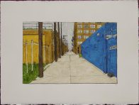 Alley with Blue