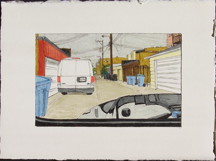 Alley with Van