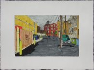 Alley with Walgreens