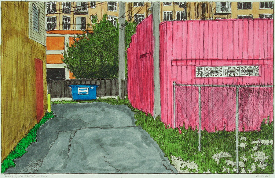 Alley with Pretty in Pink