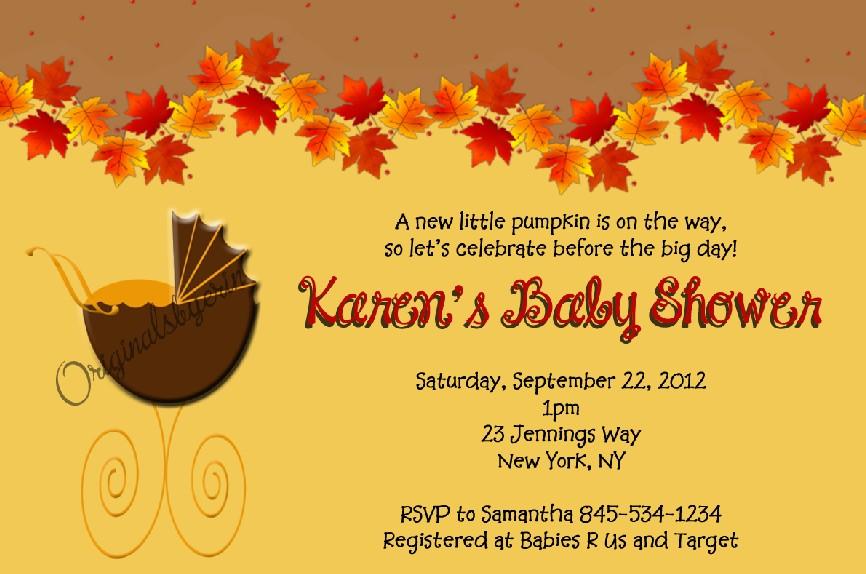 Fall Baby Shower Invitation Templates