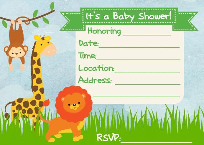 Easy Printable Baby Shower Invitations