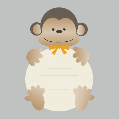 free printable monkey themed baby shower invitations, Baby shower invitations