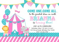 Circus Themed Birthday Party Invitations | | DolanPedia ...