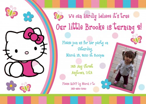 free hello kitty birthday invitations