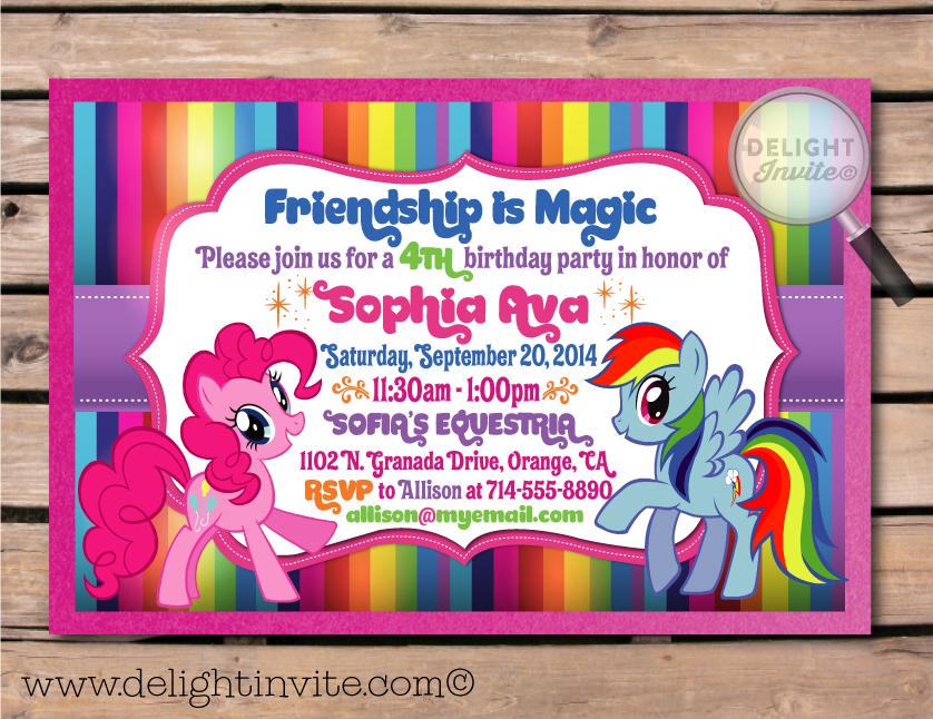 my little pony birthday invitation
