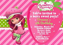 strawberry shortcake personalized