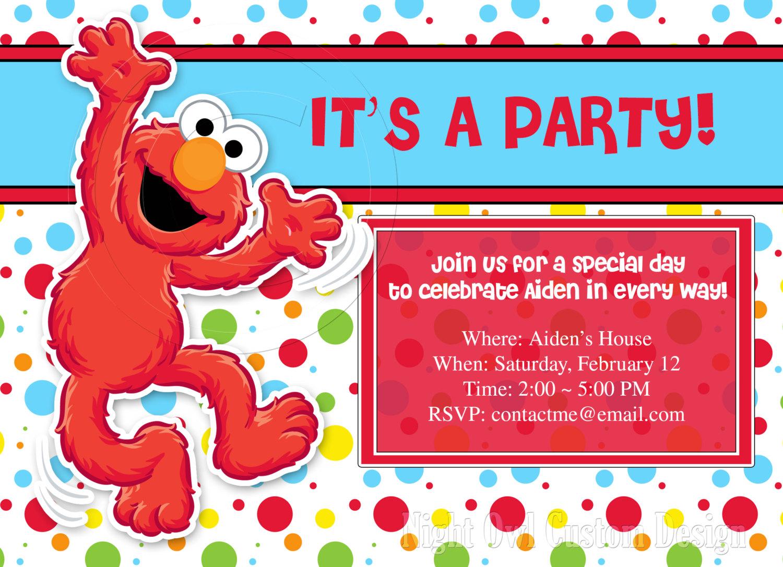 Elmo Birthday Invitations With Photo DolanPedia