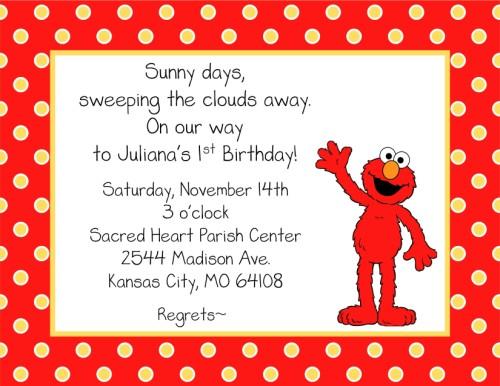 Free Printable Elmo Birthday Invitations DolanPedia