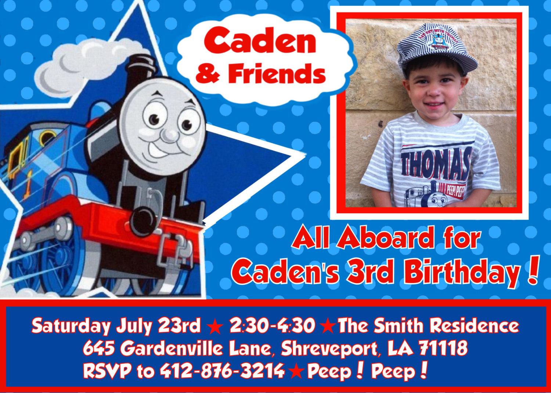 thomas and friends birthday invitations