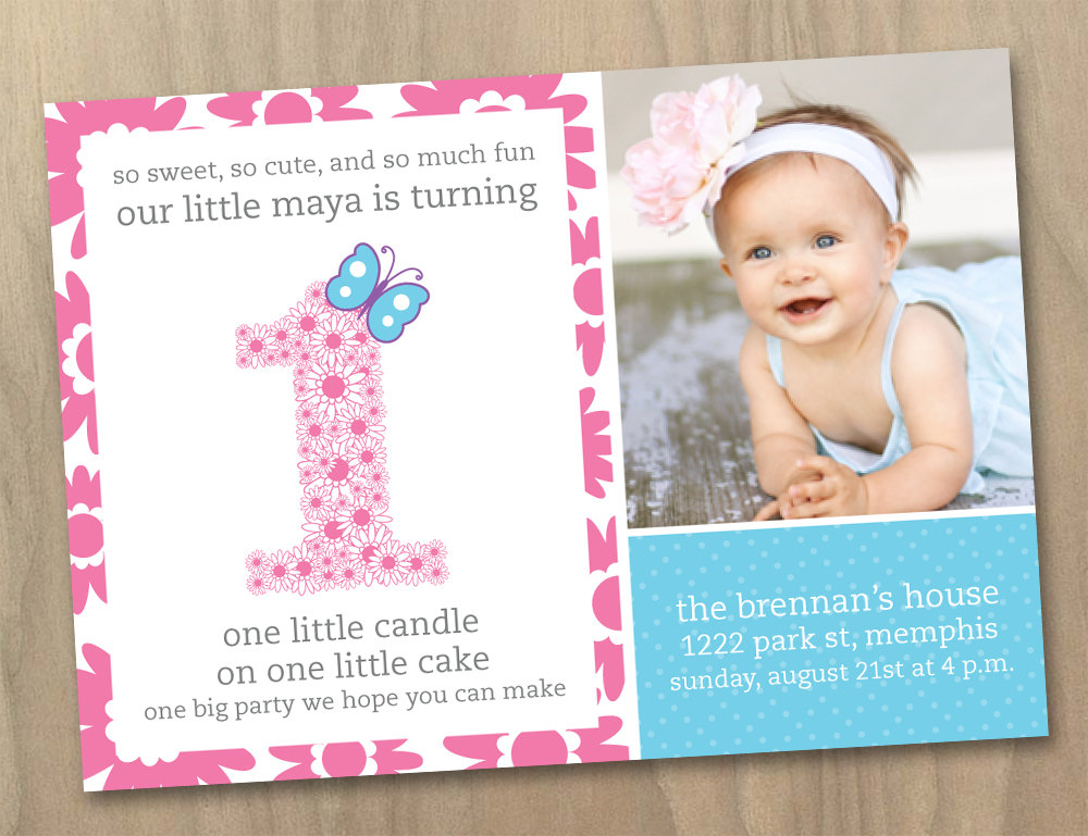first birthday party invitation wording