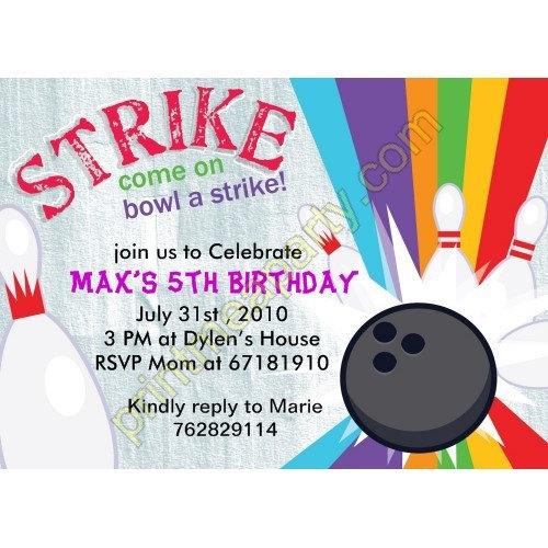 free printable bowling birthday party