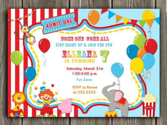 free printable carnival birthday