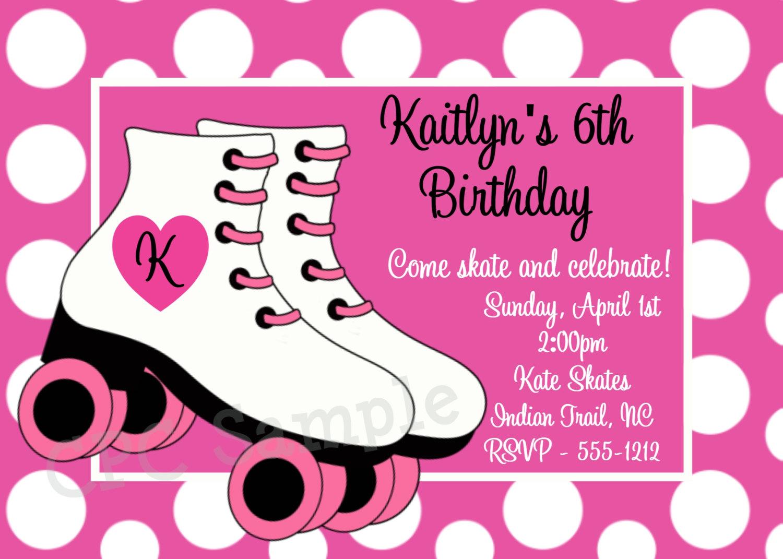 free printable roller skating birthday