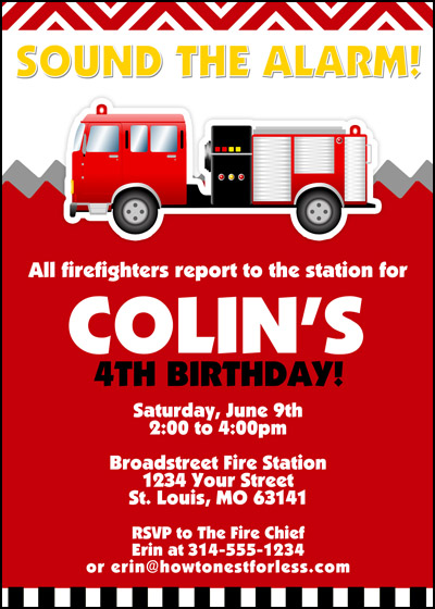 This fun fire truck invitation by invitation consultants rounded out my favorites. Free Printable Fire Truck Birthday Invitations Dolanpedia