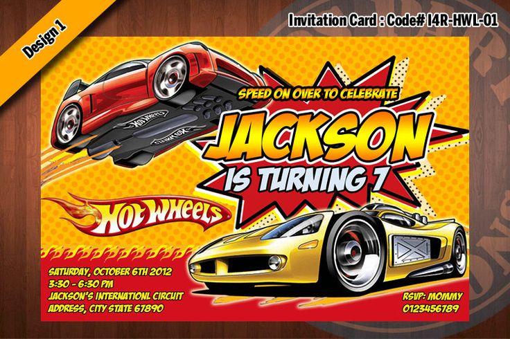 hot wheels birthday party invitations