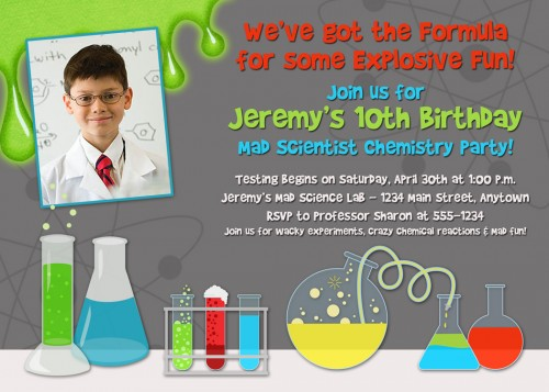 science party invitation template