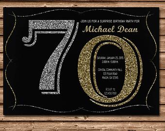 Surprise 70th Birthday Party Invitations Dolanpedia