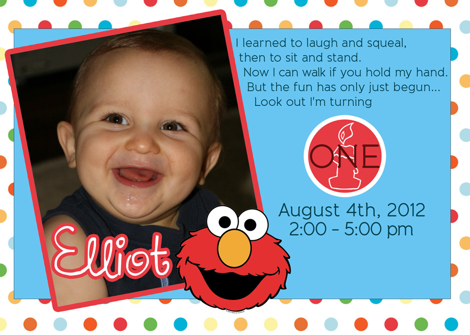 first birthday party invitations boy