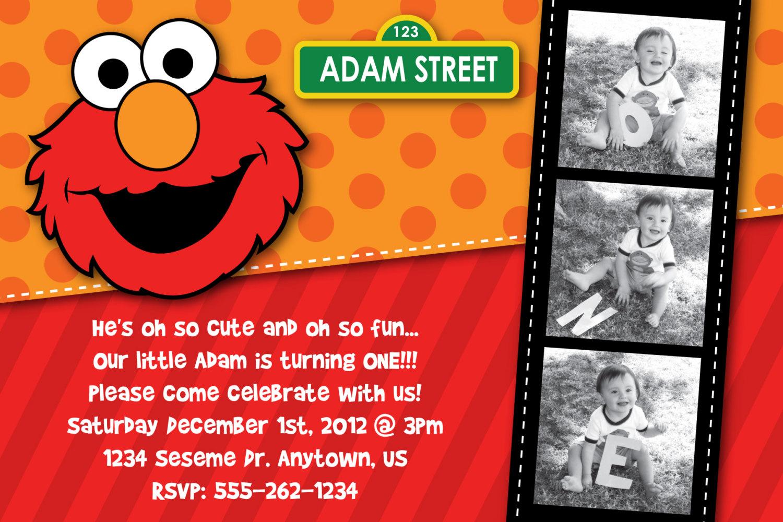 Elmo 1st Birthday Party Invitations DolanPedia