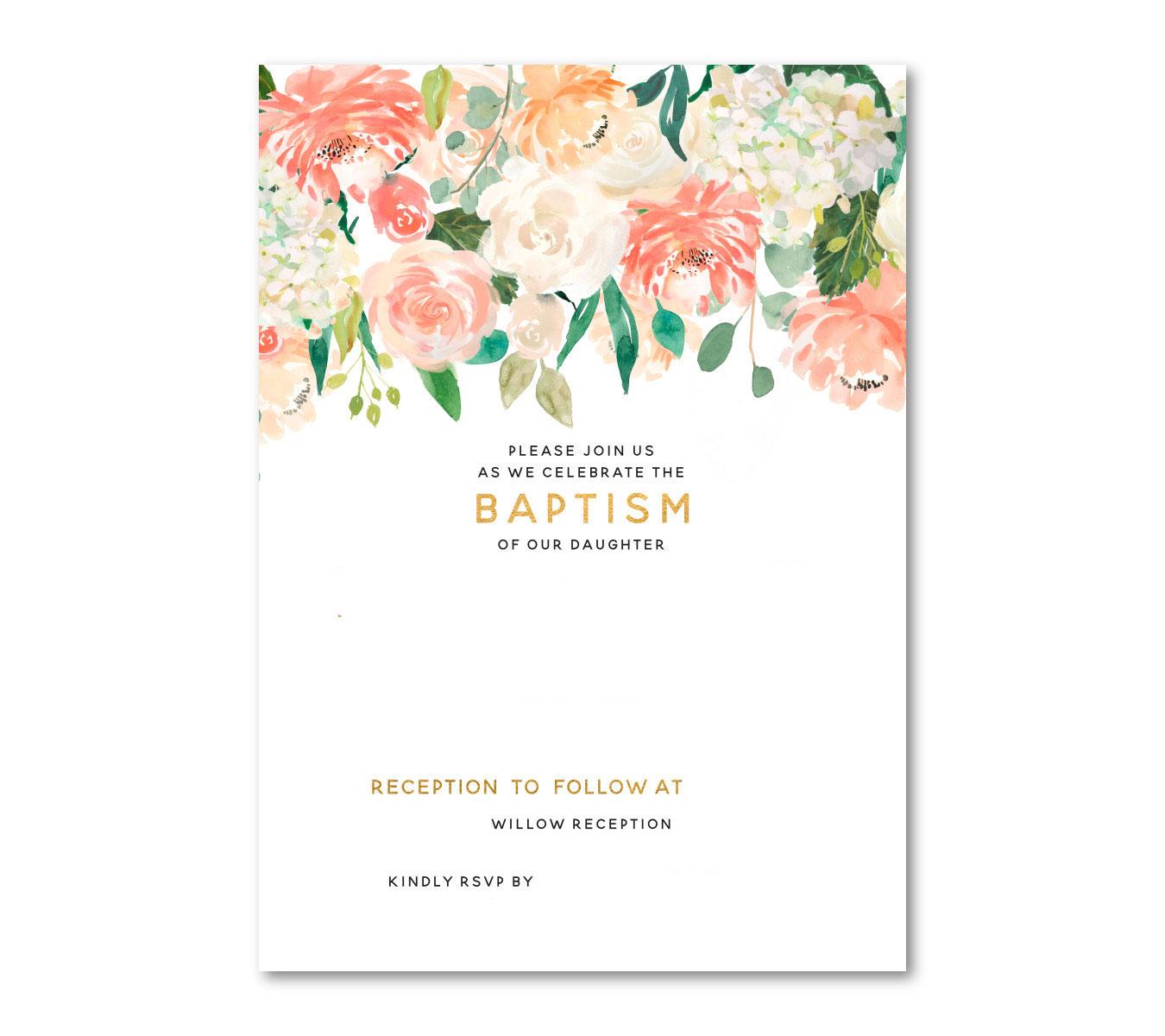 Free Baptism Invitation Templates