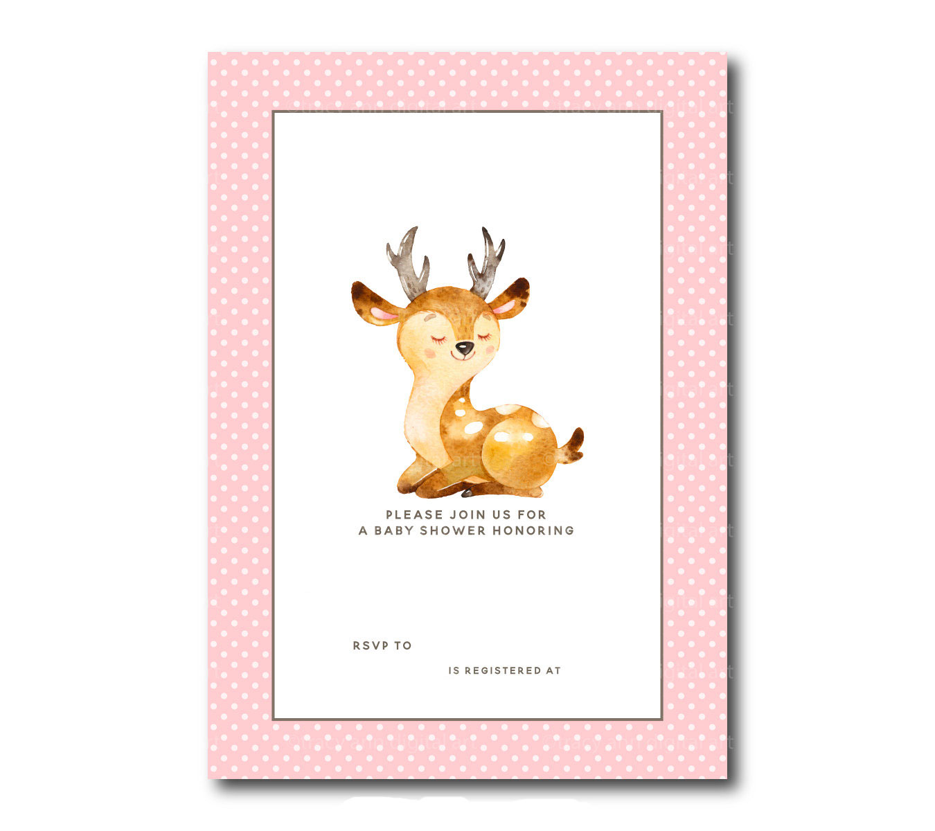 Free Printable Baby Deer Baby Shower Template