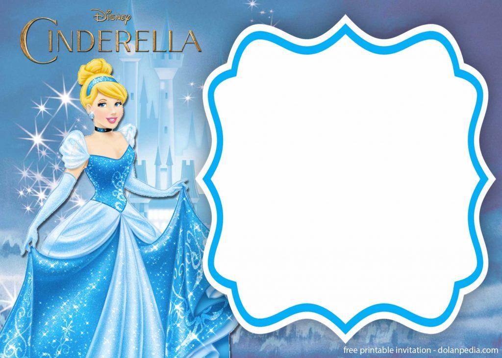 FREE Printable Cinderella Royal Invitation Templates DolanPedia Invitations Template