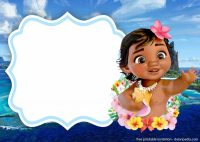 FREE Printable Moana Invitation Templates