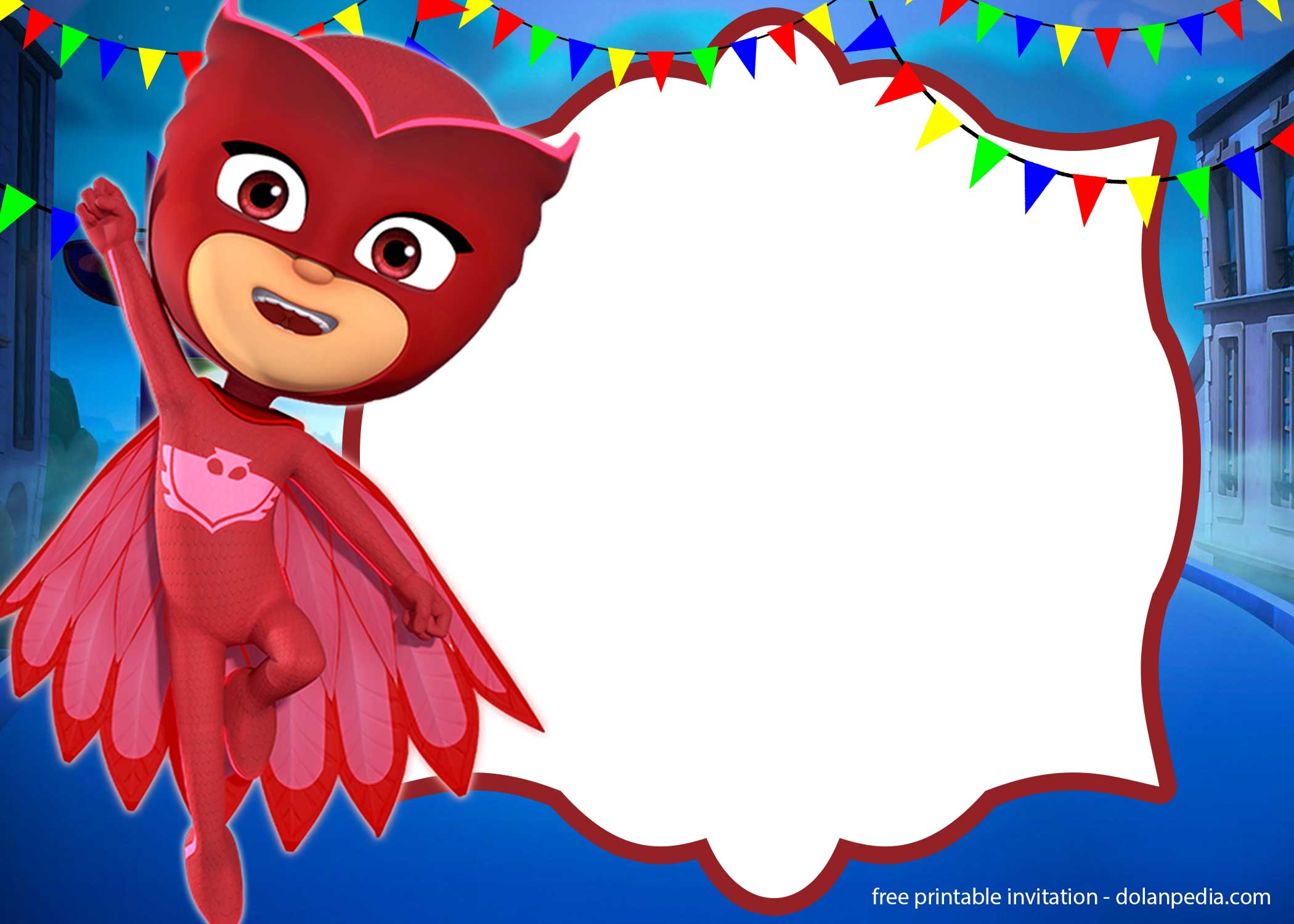 free pj masks invitation templates
