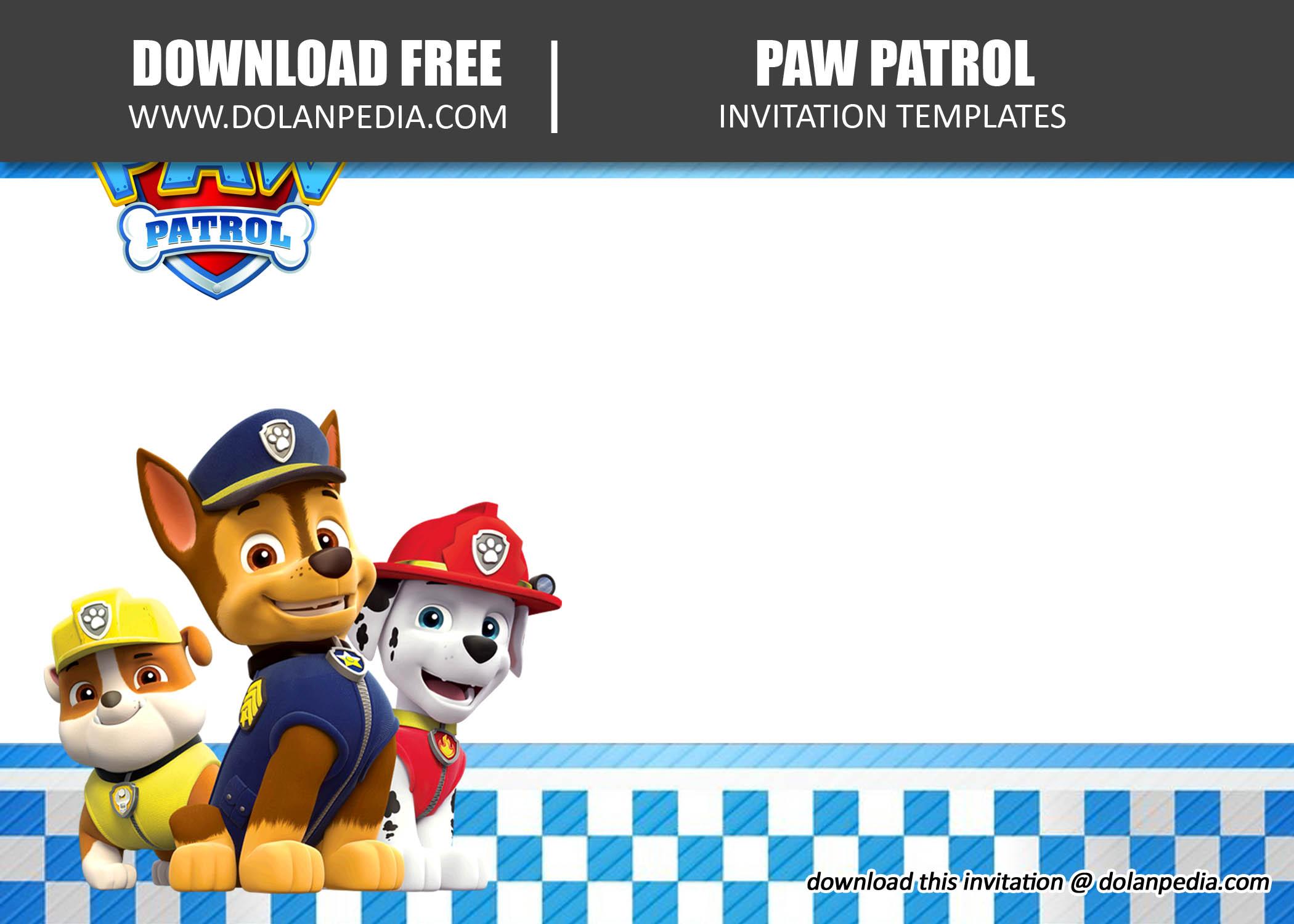 free printable cute paw patrol