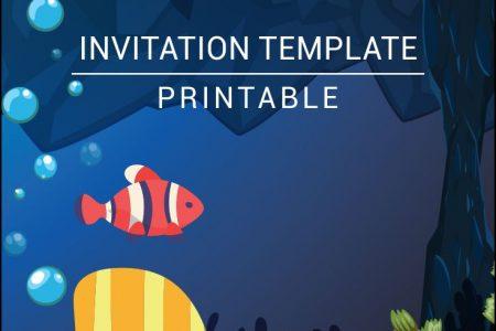 the sea birthday invitation templates