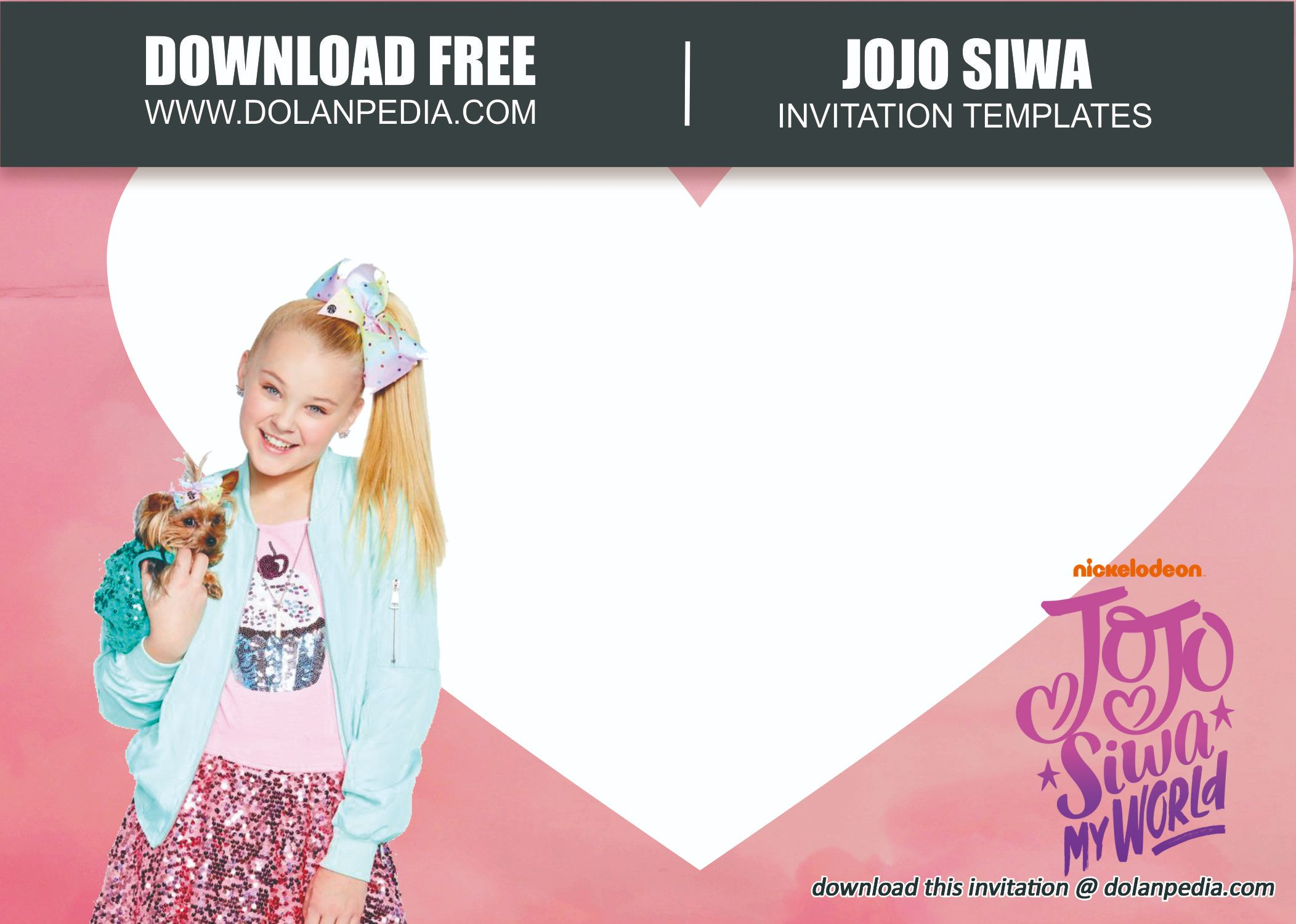 free printable jojo siwa invitation