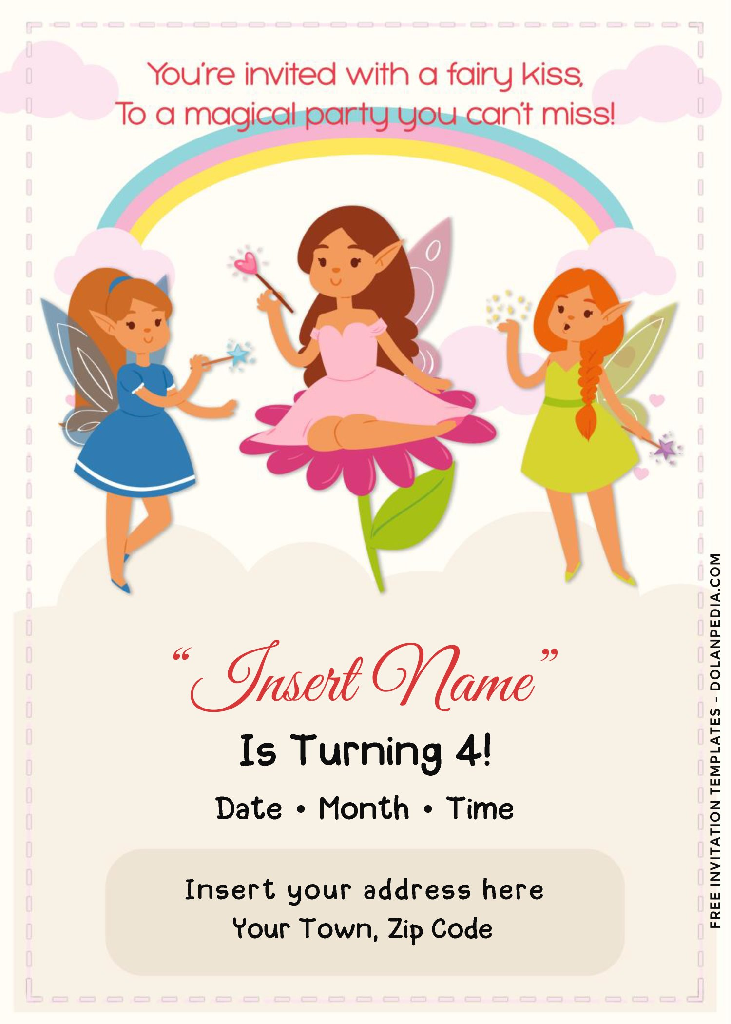 free rainbow magic fairy birthday