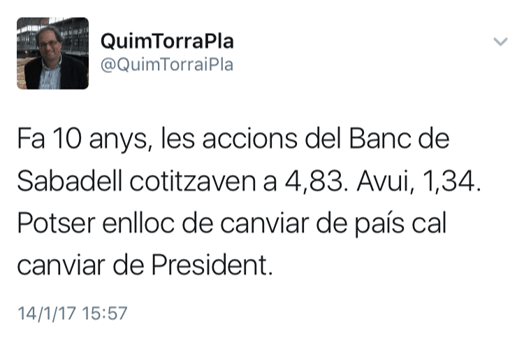 Expresidente de Òmnium/Òdium exige que echen a Oliu del Sabadell