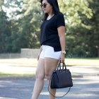 Black t-shirt outfit summer