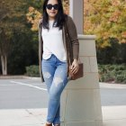 fall colors casual outfit cardigan
