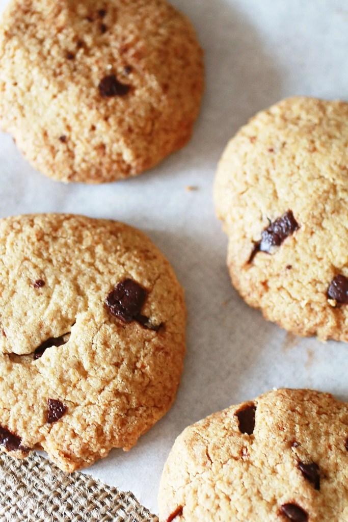 Biscotti con Gocce di Cioccolato e Farina di Avena senza zucchero raffinato