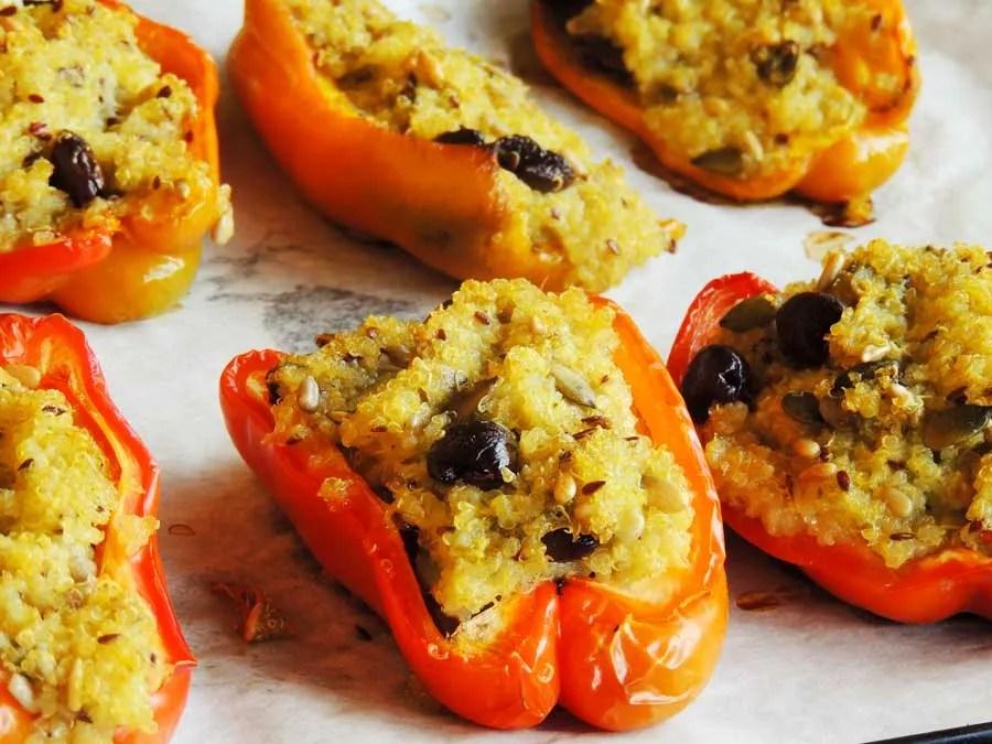 Peperoni ripieni di quinoa a basso indice glicemico