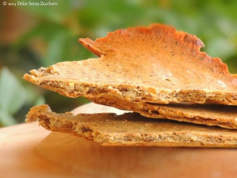 Semplici crackers al kamut integrale, farina di ceci e semi di lino (4)