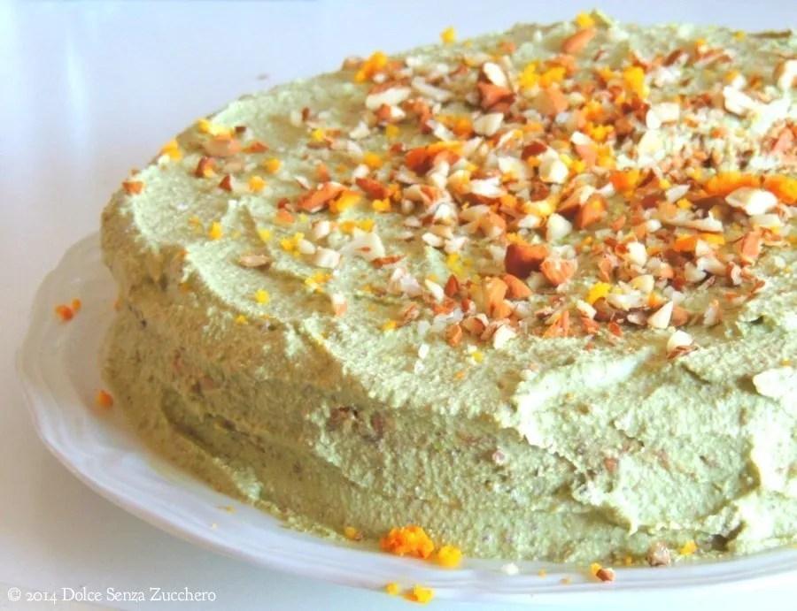 Torta di Carote, Mandorle e Arance (Vegan e Crudista)
