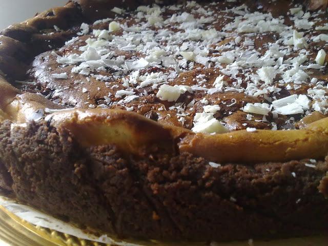 cheese cake ai due cioccolati