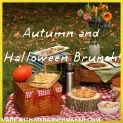 Autumn and halloween  brunch