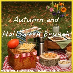 Autumn and halloween brunch