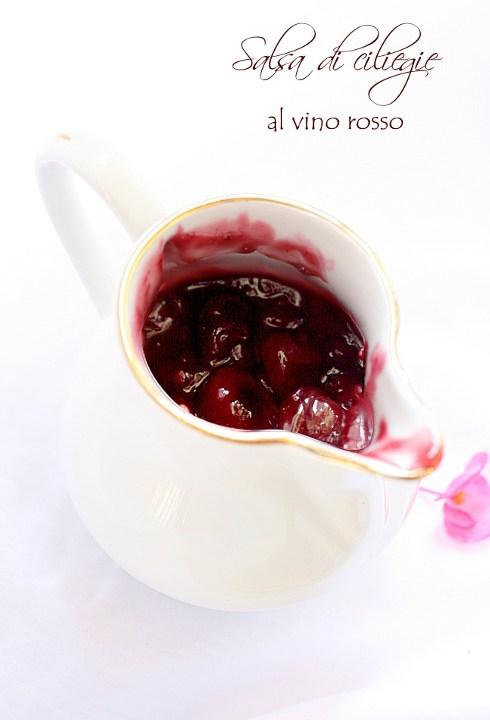 Salsa di ciliegie al vino rosso