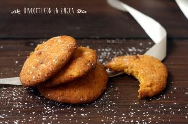 I biscotti con la zucca