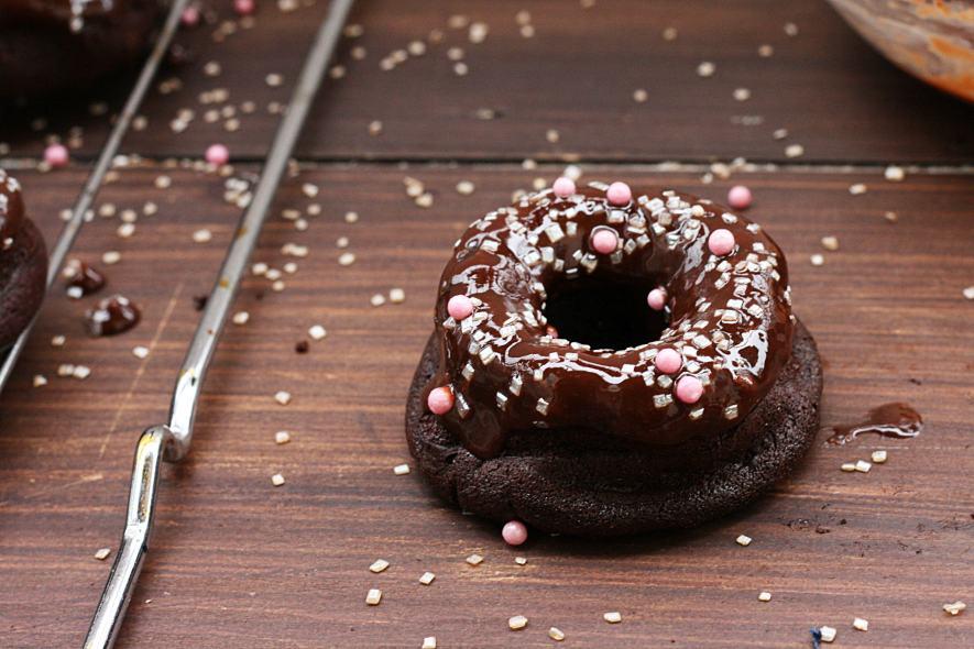Donuts al cioccolato senza glutine