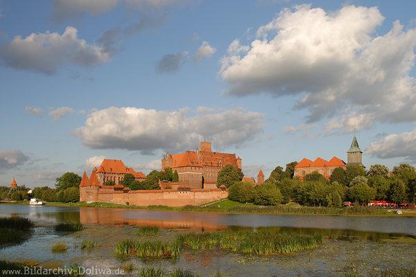 Marienburg Bilder Malbork Fotos historische Stadt mit Burg